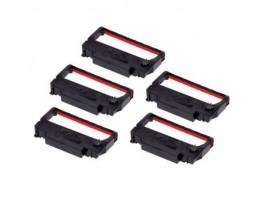 5 Ruban Compatibles, Epson ERC-38BK / R Noir / Rouge