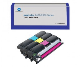 3 Toners Originales, Konica Minolta A00W012 Couleur ~ 4.500 Pages