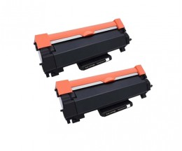 2 Toner Compatibles, Brother TN-2410 / TN-2420 Noir ~ 3.000 Pages
