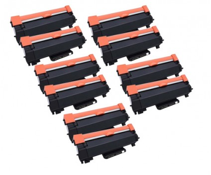 10 Toner Compatibles, Brother TN-2410 / TN-2420 Noir ~ 3.000 Pages