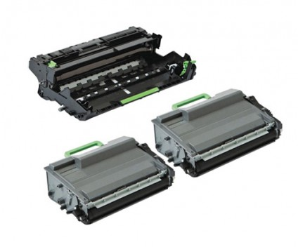 1 Tambour Compatible Brother DR-3400 ~ 50.000 Pages + 2 Toner Compatibles Brother TN-3430 / TN-3480 Noir ~ 8.000 Pages