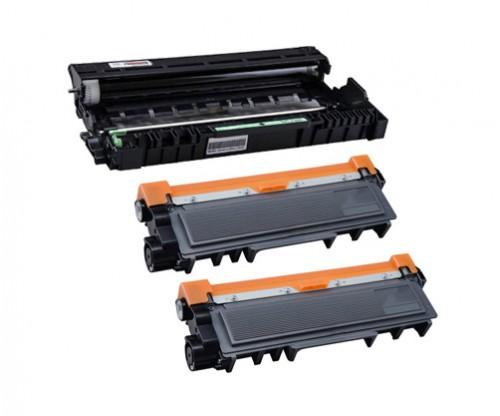 1 Tambour Compatible Brother DR-2300 Noir ~ 12.000 Pages + 2 Toners Compatibles, Brother TN-2320 Noir ~ 2.600 Pages