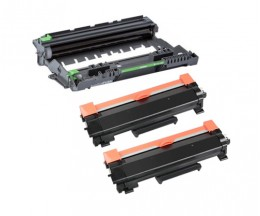 1 Tambour Compatible Brother DR-2400 ~ 12.000 Pages + 2 Toner Compatibles, Brother TN-2410 / TN-2420 Noir ~ 3.000 Pages