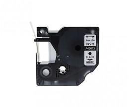 Ruban Compatible DYMO 43613 Noir / Blanc 6mm x 7m
