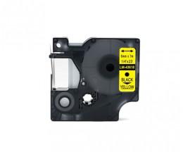 Ruban Compatible DYMO 43618 Noir / Jaune 6mm x 7m