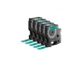 5 Ruban Compatibles, DYMO 45019 Vert 12mm x 7m