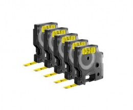 5 Ruban Compatibles, DYMO 40918 Jaune 9mm x 7m