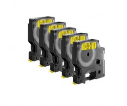 5 Ruban Compatibles, DYMO 45808 Jaune 19mm x 7m