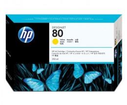 Cabeça de impressão Original HP 80 Jaune e dispositivo de limpeza