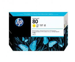 Cartouche Original HP 80 Jaune 175ml ~ 2.200 Pages