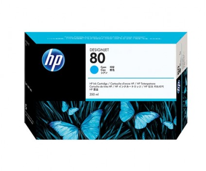 Cartouche Original HP 80 Cyan 350ml ~ 4.400 Pages