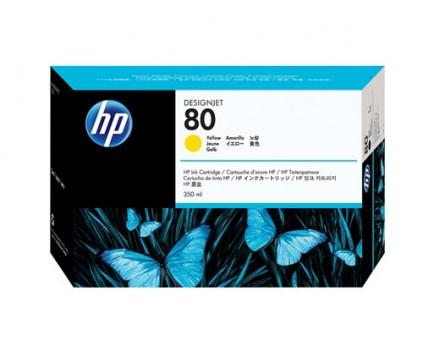 Cartouche Original HP 80 Jaune 350ml ~ 4.400 Pages