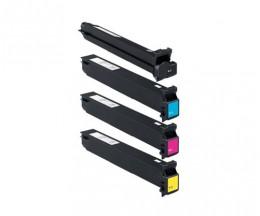 4 Toner Compatibles Konica Minolta A0TMX50 Noir + Couleur ~ 45.000 / 30.000 Pages