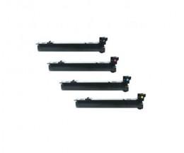 4 Toners Compatibles, Konica Minolta A06VX53 Noir + Couleur ~ 12.000 Pages