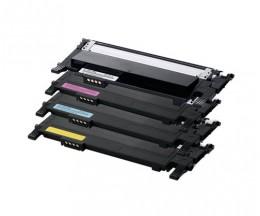 4 Toners Compatibles, Samsung 406S Noir + Couleur ~ 1.500 / 1.000 Pages