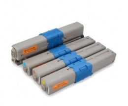 4 Toners Compatibles, OKI 44469803 Noir + 4446970X Couleur ~ 3.500 / 2.000 Pages