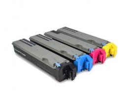 4 Toners Compatibles, Kyocera TK 510 Noir + Couleur ~ 8.000 Pages