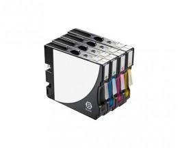 4 Cartouches Compatibles, Ricoh GC-21 / GC-21 XXL Noir 78ml + Couleur 64ml