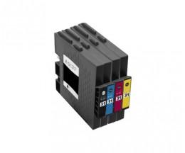 4 Cartouches Compatibles, Ricoh GC-31 / GC-31 XXL Noir 78ml + Couleur 64ml