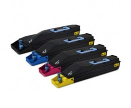 4 Toners Compatibles, Kyocera TK 855 Noir + Couleur ~ 25.000 / 18.000 Pages