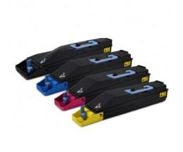 4 Toners Compatibles, Kyocera TK 880 Noir + Couleur ~ 25.000 / 18.000 Pages