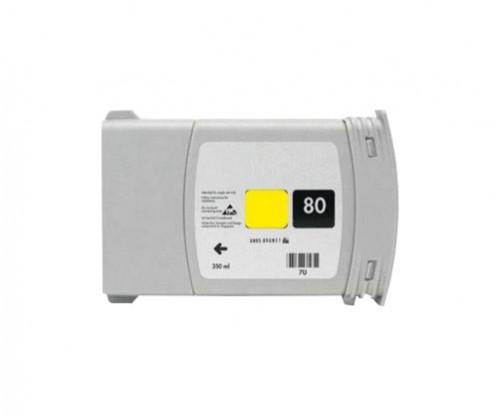 Cartouche Compatible HP 80 Jaune 400ml
