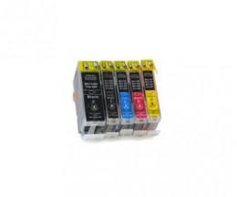 5 Cartouches Compatibles, Canon BCI-3 / BCI-6 / BCI-5 Noir 26.8ml + Couleur 13.4ml