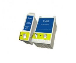2 Cartouches Compatibles, Epson T007 Noir 16ml + T009 Couleur 62ml