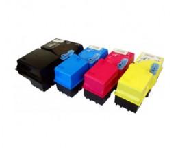 4 Toners Compatibles, Kyocera TK 825 Noir + Couleur ~ 15.000 / 7.000 Pages