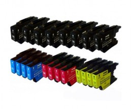 20 Cartouches Compatibles, Brother LC-1220 / LC-1240 / LC-1280 Noir 32.6ml + Couleur 16.6ml