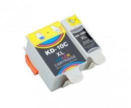 2 Cartouches Compatibles, Kodak 3949948 Noir 15ml + Couleur 60ml