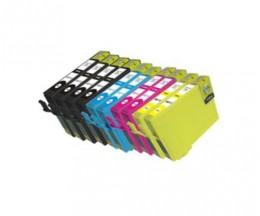 10 Cartouches Compatibles, Epson T1291-T1294 Noir 15ml + Couleur 13ml