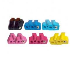 12 Cartouches Compatibles, HP 363 Noir 30ml + Couleur 10ml