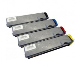 4 Toners Compatibles, Kyocera TK 520 Noir + Couleur ~ 6.000 / 4.000 Pages