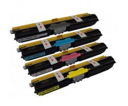 4 Toners Compatibles, Konica Minolta A0V30XH Noir + Couleur ~ 2.500 Pages