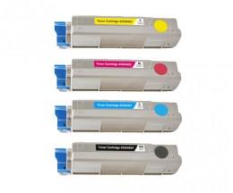 4 Toners Compatibles, OKI 4332442X Noir + Couleur ~ 6.000 / 5.000 Pages