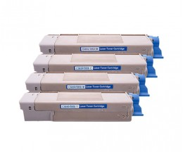 4 Toners Compatibles, OKI 4386572X ~ 6.000 Pages