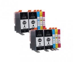 10 Cartouches Compatibles, HP 920 XL Noir 53ml + Couleur 14.6ml