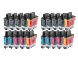 20 Cartouches Compatibles, Brother LC-900 Noir 20ml + Couleur 12ml
