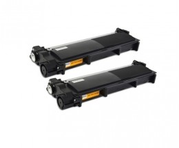 2 Toners Compatibles, Brother TN-2320 Noir ~ 2.600 Pages