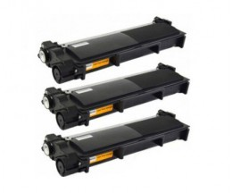 3 Toners Compatibles, Brother TN-2320 Noir ~ 2.600 Pages
