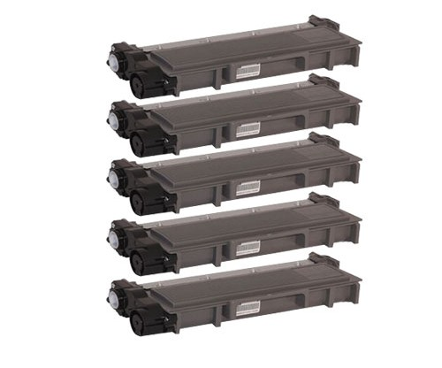 5 Toners Compatibles, Brother TN-2320 Noir ~ 2.600 Pages