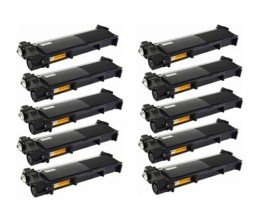 10 Toners Compatibles, Brother TN-2320 Noir ~ 2.600 Pages