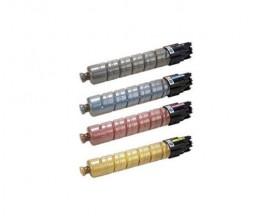 4 Toners Compatibles, Ricoh 82107X / 82109X Noir + Couleur ~ 15.000 Pages