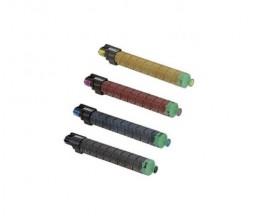 4 Toners Compatibles, Ricoh MPC305E Noir + Couleur ~ 12.000 / 4.000 Pages