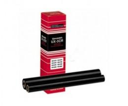 2 Rouleaux Transfert Thermique Originales Sharp UX3CR Noir ~ 190 Pages