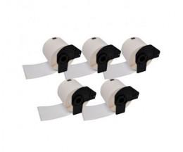 5 Etiquettes Compatibles, Brother DK22211 29mm x 15.24m Rouleau Papier Blanc