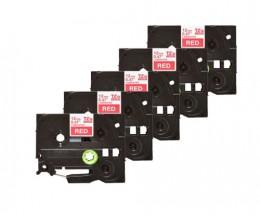 5 Ruban Compatibles, Brother TZE435 12mm x 8m Laminé