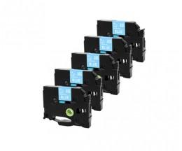 5 Ruban Compatibles, Brother TZE535 12mm x 8m Laminé