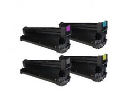 4 Tambours Compatibles, OKI 4291810X Noir + Couleurs ~ 30.000 Pages